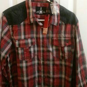 I Jeans by Buffalo Men's Plaid Shirt NWT sz L